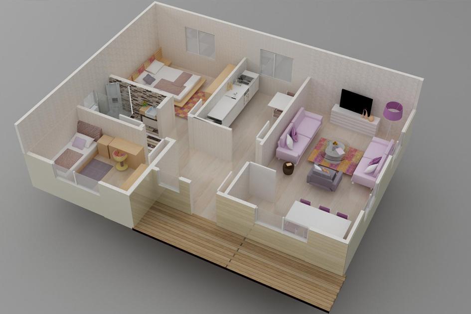 78m2 Prefabrik Ev Plan